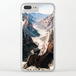 Zion Canyon National Park Clear iPhone Case