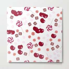 Candy lollipops of cherry Metal Print