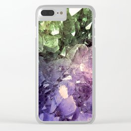 Two Tone Crystal Geode Clear iPhone Case