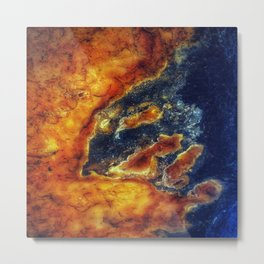 Earth Art Cave Ceiling Metal Print