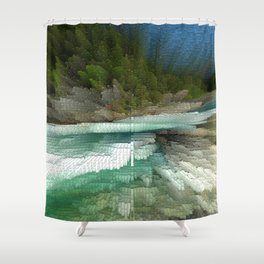 Abstract Landsape Shower Curtain