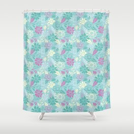 Sky of Flowers Shower Curtain