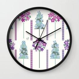 Geometric flowers Wall Clock