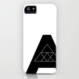 "Geometric Letter ""A"" iPhone Case"