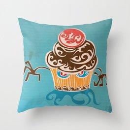 Evil Cupcake Throw Pillow