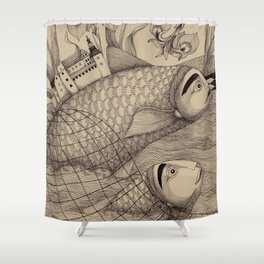 The Golden Fish (1) Shower Curtain