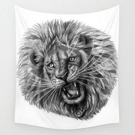 Lion roar G141 Wall Tapestry