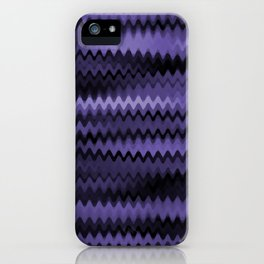 Purple Waves Abstract iPhone Case