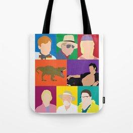 Jurassic Park Characters Tote Bag