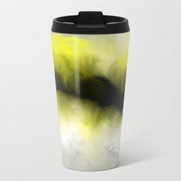 Golden Whispers - Abstract Art Acrylic Painting Travel Mug