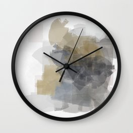Grey Introspective in a white room Wall Clock