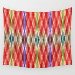 Pattern rhombs orange Wall Tapestry