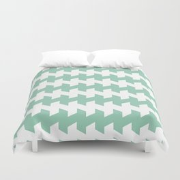 jaggered and staggered in grayed jade Duvet Cover