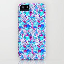 Blue Purple jungle iPhone Case