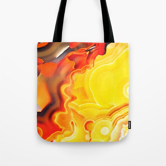 Earth's Fantasy, from the Lithosphere emerges Beauty - Agate Tote Bag