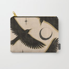 Black birds flying with the Moon Carry-All Pouch
