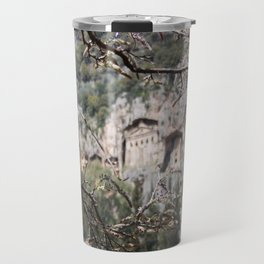 Wisteria Buds Surrounding the Lycian Tombs Dalyan Travel Mug