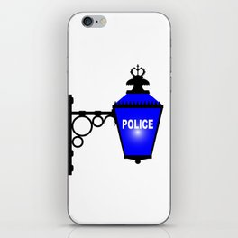 Police Station Blue Light iPhone Skin