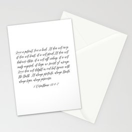 Love is Patient Stationery Cards