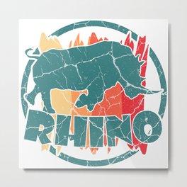 Rhino rhinoceros gift Africa rhinoceros Metal Print
