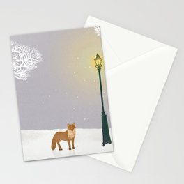 Snow and Lamp   Miharu Shirahata Stationery Cards