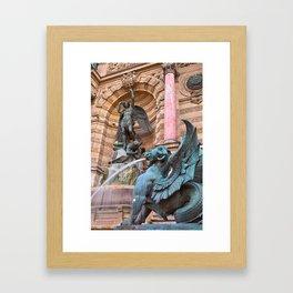 Saint-Michel Fountain Framed Art Print