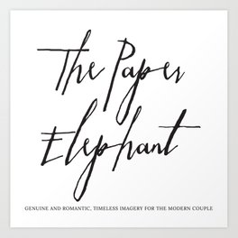 The Paper Elephant - Cients Art Print