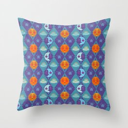 The sun, the moon and the stars Throw Pillow