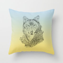 Dream about a Wolf Throw Pillow