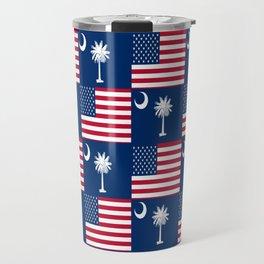 Mix of flag: Usa and south carolina Travel Mug