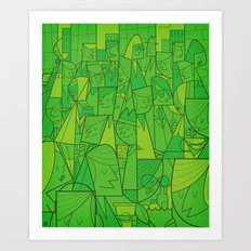 Citystreet (green version) Art Print