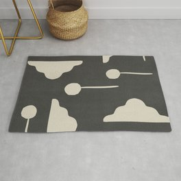 Clouds and lollipops - dark version Rug