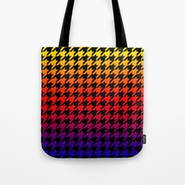 Houndstooth Sundown Tote Bag