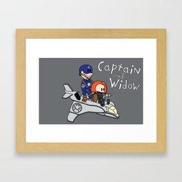 Captain and Widow Framed Art Print