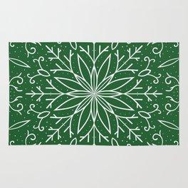 Single Snowflake - green Rug