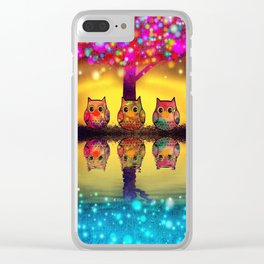 owl-97 Clear iPhone Case