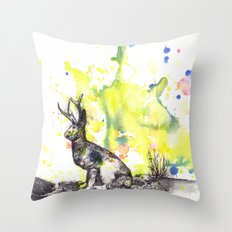 The Mythical Jackalope  Throw Pillow