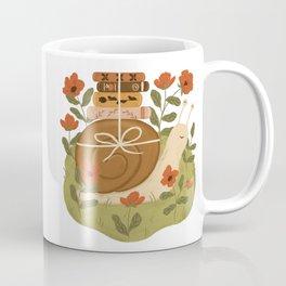 Snail Carrying Books Coffee Mug