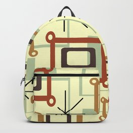 Mid Century Modern Geometric Art Backpack