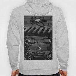 Focus by Lu, black-and-white Hoody