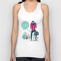 skate Tank Tops featuring Let's skate  by SpazioC