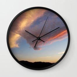 Pink V Cloud Wall Clock