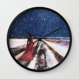 Alone in the Cold Wall Clock