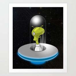 Take me to your leader Again Art Print