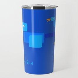 Happy Bird-Blue Travel Mug