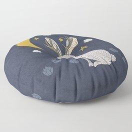 Serene Jackalope Floor Pillow