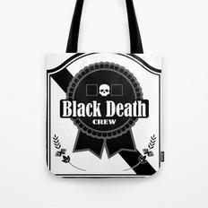 Black Death Ribbon Tote Bag