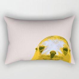 SEAL, HAPPY SEAL, SEAL FACE, Larhe pop art, curious seal, pop art animal, little seal, baby seal Rectangular Pillow