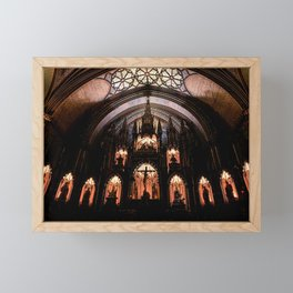 Inside Notre-Dame Basilica of Montreal Framed Mini Art Print