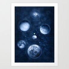 Map of the Heavens Art Print
